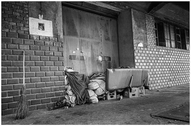 Homeless people's belongings, Croatia. Photo Kornelijle Sajler
